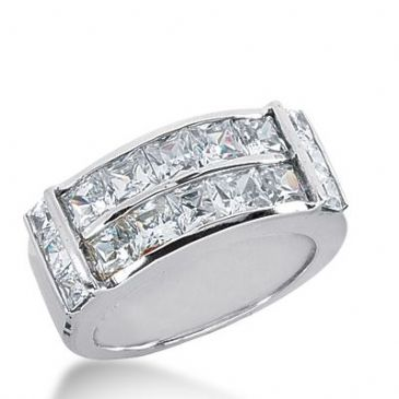950 Platinum Diamond Anniversary Wedding Ring 16 Princess Cut Diamonds 3.58ctw 368WR1529PLT