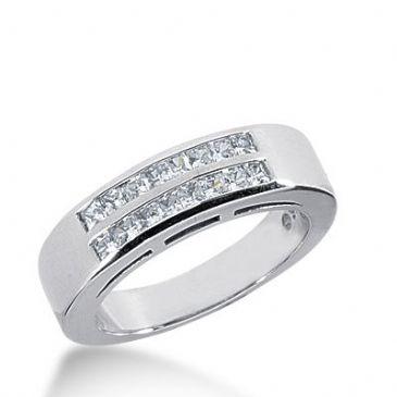 950 Platinum Diamond Anniversary Wedding Ring 16 Princess Cut Diamonds 0.64ctw 370WR1531PLT