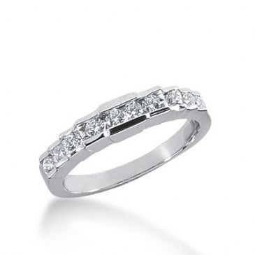 18k Gold Diamond Anniversary Wedding Ring 10 Round Brilliant Diamonds 0.32ctw 372WR155018K