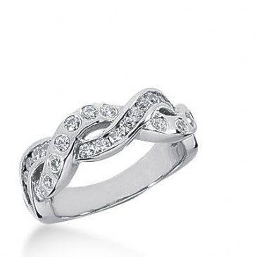 950 Platinum Diamond Anniversary Wedding Ring 26 Round Brilliant Diamonds 0.65ctw 384WR1574PLT
