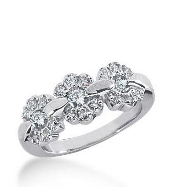 950 Platinum Diamond Anniversary Wedding Ring 21 Round Brilliant Diamonds 0.66ctw 385WR1575PLT