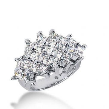 950 Platinum Diamond Anniversary Wedding Ring 25 Princess Cut Diamonds 4.25ctw 386WR1576PLT