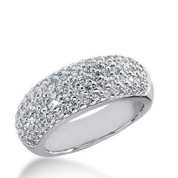 18k Gold Diamond Anniversary Wedding Ring 79 Round Brilliant Diamonds 1.19ctw 388WR160118K