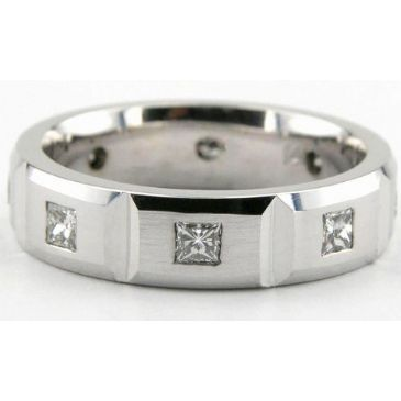 14K Gold 6mm Diamond Wedding Bands Rings 1959