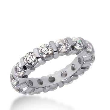 18k Gold Diamond Eternity Wedding Bands, Bar Setting 3.00 ct. DEB32718K