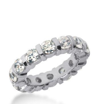 14k Gold Diamond Eternity Wedding Bands, Bar Setting 3.50 ct. DEB32814K