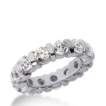 14k Gold Diamond Eternity Wedding Bands, Bar Setting 4.00 ct. DEB32914K