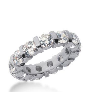 18k Gold Diamond Eternity Wedding Bands, Bar Setting 5.00 ct. DEB33118K