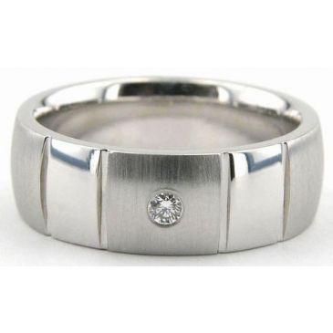 18K Gold 7mm Diamond Wedding Bands Rings 0876