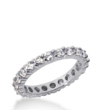 14k Gold Diamond Eternity Wedding Bands, Shared Prong Setting 1.50 ct. DEB100714K