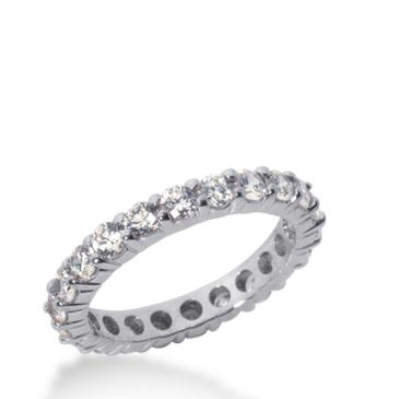 18k Gold Diamond Eternity Wedding Bands, Shared Prong Setting 1.50 ct. DEB100718K
