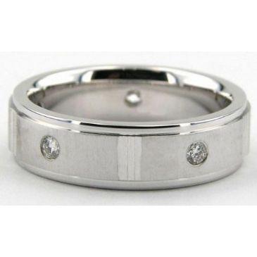 18K Gold 6mm Diamond Wedding Bands Rings 0883