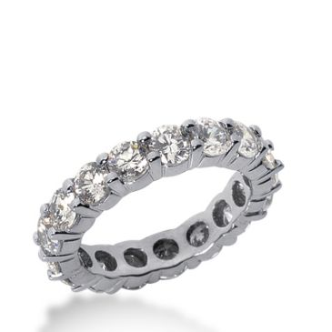 18k Gold Diamond Eternity Wedding Bands, Shared Prong Setting 3.50 ct. DEB1002018K