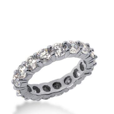 950 Platinum Diamond Eternity Wedding Bands, Shared Prong Setting 3.50 ct. DEB10020PLT