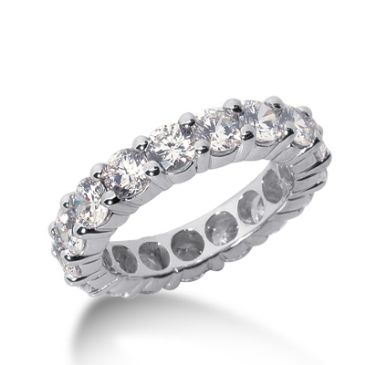 950 Platinum Diamond Eternity Wedding Bands, Shared Prong Setting 4.00 ct. DEB10025PLT