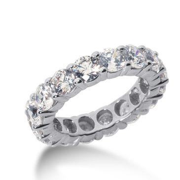 950 Platinum Diamond Eternity Wedding Bands, Shared Prong Setting 4.50 ct. DEB10030PLT