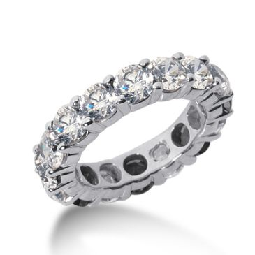 950 Platinum Diamond Eternity Wedding Bands, Shared Prong Setting 5.00 ct. DEB10035PLT