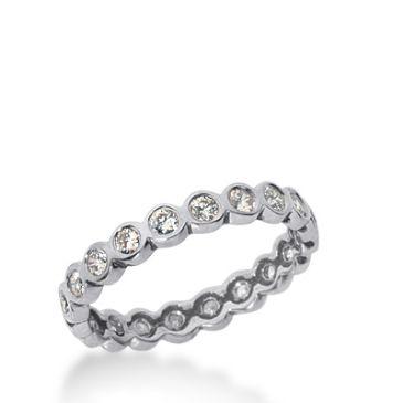 950 Platinum Diamond Eternity Wedding Bands, Bezel Setting 0.50 ct. DEB2103PLT