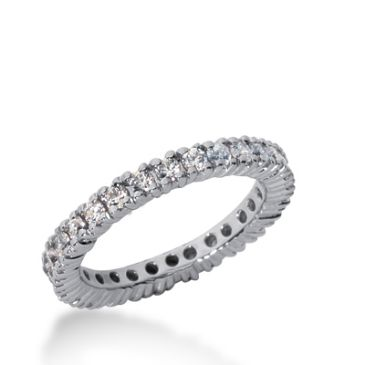 18k Gold Diamond Eternity Wedding Bands, Prong Setting 1.00 ct. DEB103318K