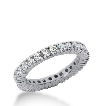 14k Gold Diamond Eternity Wedding Bands, Prong Setting 1.50 ct. DEB103514K