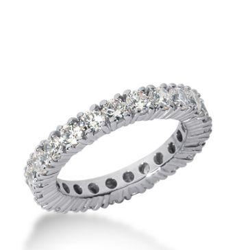 18k Gold Diamond Eternity Wedding Bands, Prong Setting 2.50 ct. DEB1031018K