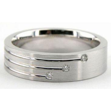 18K Gold 6mm Diamond Wedding Bands Rings 1945