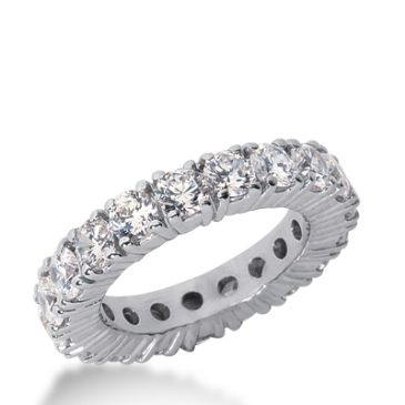 18k Gold Diamond Eternity Wedding Bands, Prong Setting 3.50 ct. DEB1032018K