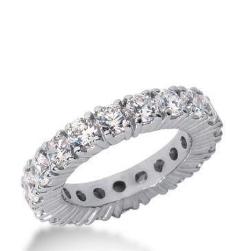 950 Platinum Diamond Eternity Wedding Bands, Prong Setting 3.50 ct. DEB10320PLT