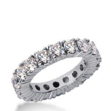 18k Gold Diamond Eternity Wedding Bands, Prong Setting 4.50 ct. DEB1032518K