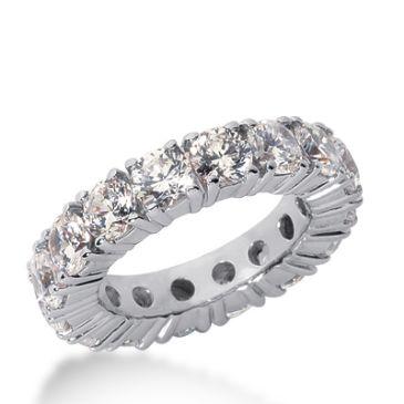 18k Gold Diamond Eternity Wedding Bands, Prong Setting 5.50 ct. DEB1033518K
