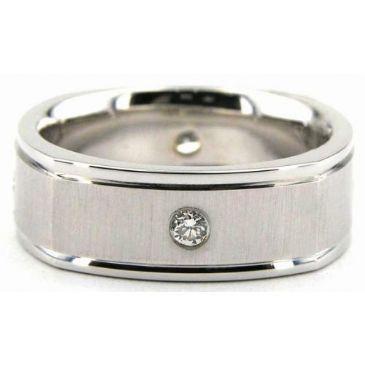 18K Gold 7mm Diamond Wedding Bands Rings 0873