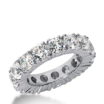 18k Gold Diamond Eternity Wedding Bands, Prong Setting 6.50 ct. DEB1034518K