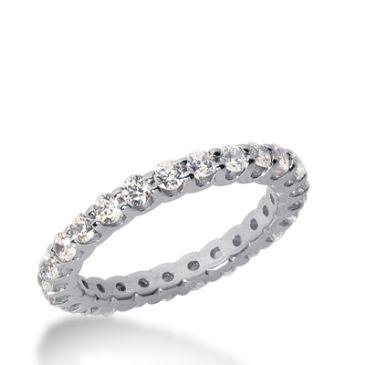 14k Gold Diamond Eternity Wedding Bands, Wide Shared Prong Setting 1.00 ct. DEB167314K