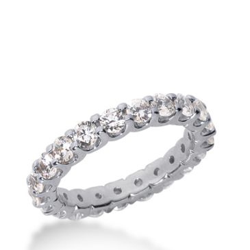 14k Gold Diamond Eternity Wedding Bands, Wide Shared Prong Setting 2.00 ct. DEB1671014K