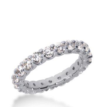 950 Platinum Diamond Eternity Wedding Bands, Wide Shared Prong Setting 2.00 ct. DEB16710PLT
