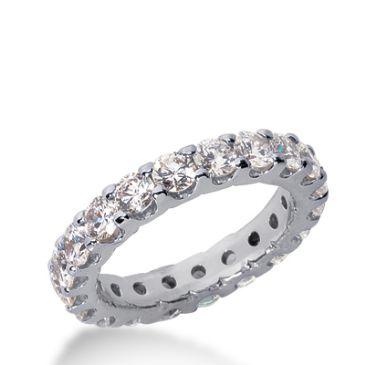 18k Gold Diamond Eternity Wedding Bands, Wide Shared Prong Setting 2.50 ct. DEB1671518K