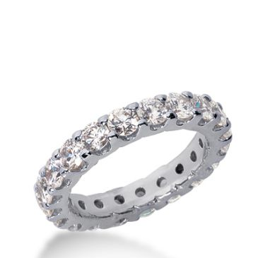 950 Platinum Diamond Eternity Wedding Bands, Wide Shared Prong Setting 2.50 ct. DEB16715PLT