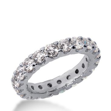 950 Platinum Diamond Eternity Wedding Bands, Wide Shared Prong Setting 3.00 ct. DEB16720PLT