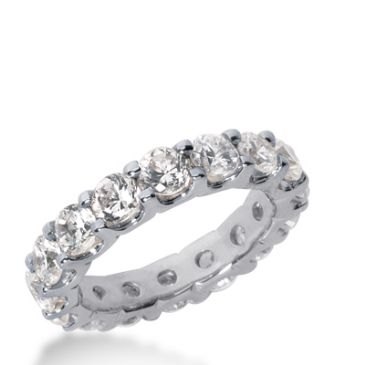 950 Platinum Diamond Eternity Wedding Bands, Wide Shared Prong Setting 3.50 ct. DEB16725PLT