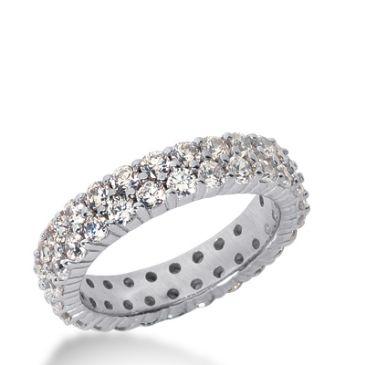 18k Gold Diamond Eternity Wedding Bands, Shared Prong Setting 2.50 ct. DEB169518K