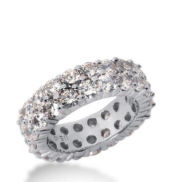 18k Gold Diamond Eternity Wedding Bands, Shared Prong Setting 3.50 ct. DEB1691018K
