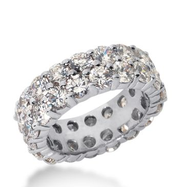 950 Platinum Diamond Eternity Wedding Bands, Shared Prong Setting 6.50 ct. DEB16920PLT
