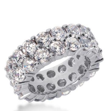 14k Gold Diamond Eternity Wedding Bands, Shared Prong Setting 8.50 ct. DEB1692514K