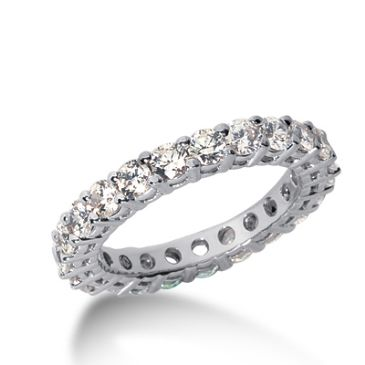 950 Platinum Diamond Eternity Wedding Bands, Shared Prong Setting 2.50 ct. DEB17710PLT