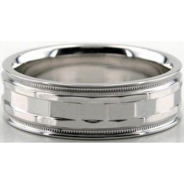 14K Gold 7mm Diamond Cut Wedding Band 630