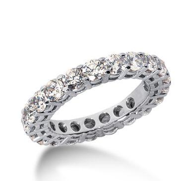 18k Gold Diamond Eternity Wedding Bands, Shared Prong Setting 3.00 ct. DEB1771518K