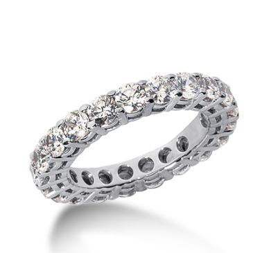 950 Platinum Diamond Eternity Wedding Bands, Shared Prong Setting 3.00 ct. DEB17715PLT