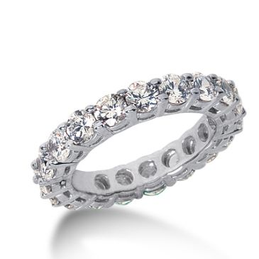 950 Platinum Diamond Eternity Wedding Bands, Shared Prong Setting 3.50 ct. DEB17720PLT