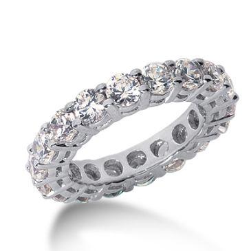 950 Platinum Diamond Eternity Wedding Bands, Shared Prong Setting 4.50 ct. DEB17725PLT
