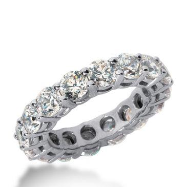 18k Gold Diamond Eternity Wedding Bands, Shared Prong Setting 5.50 ct. DEB1773018K